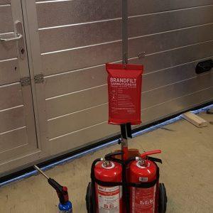 Brannslukningsapparat på tralle