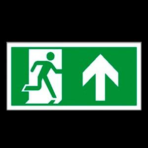 Skilt rømningsvei
