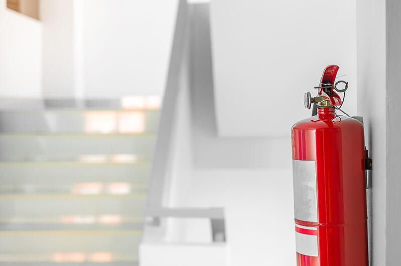 Trappeoppgang - brannslokkingsapparat
